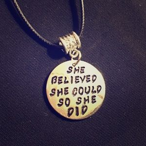 ❣️She Believed Pendant Necklace